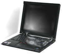 A water-logged laptop