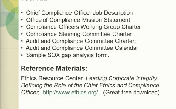 It Compliance Officer Job Description