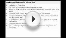 Sales officer job description